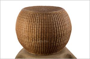 El mimbre artesania dise o sustentable - Puff de mimbre ...